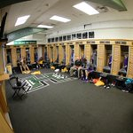Inside the Lakers locker room at the Stan Sheriff Center #AlohaLakers http://t.co/XcAPikXmB6