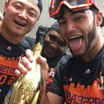 Houston, this is for you!!! WE DID IT!!!!! @astros #HTownPride http://t.co/UbLMS1QWrv