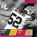 FINAL: @Packers are 4-0! #GBvsSF http://t.co/apM0QuATln