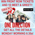 Are your alarms set for 2mro morning #Directioners?! 😄😝 Score FRONT ROW tix + @OneDirection MEET N GREET!! 👉 6:30a 👈 http://t.co/6HUt2ifjN2
