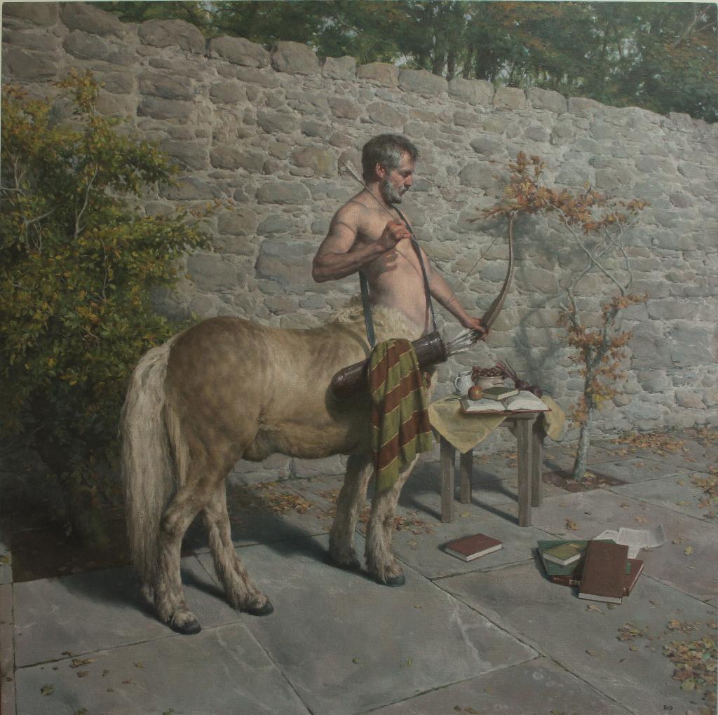 My exhibition 'Myth Making' opens @ScottishGallery 7-31 Oct. Chiron, The Centaur, Oil on Canvas, 100 x 100cm. http://t.co/aHiByAe4da