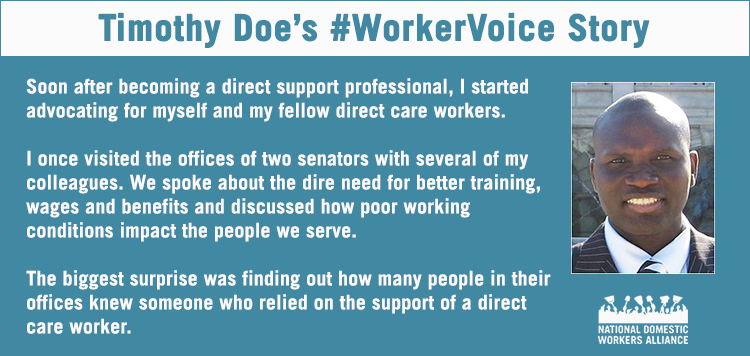 Timothy has organized fellow direct care workers for years. Together they're making an impact. #StartTheConvo http://t.co/sUtLc6kakz