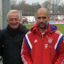 The best manager in the world, and Pep Guardiola http://t.co/UDyEFpX9oG