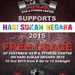 Another gym going free for #HariSukanNegara! http://t.co/Acj8is2MXd