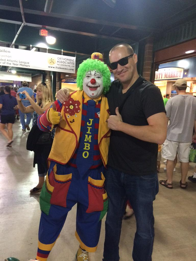 Heres Wolfie At Clownfest With Jimbo The Clown Howard