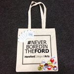 Help the environment & beat the #PlasticBags fee! Pick up a #NeverBoredintheFord bag when you visit us #HerefordHour http://t.co/dcQIcLPpAH