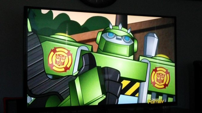 OK...  There are some cool old school cartoons on Discovery Family...  I'm watching Transformers Rescue