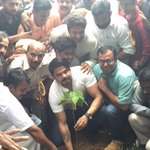 Planting a tree @kannur ..all for a good cause http://t.co/S79GPajokS