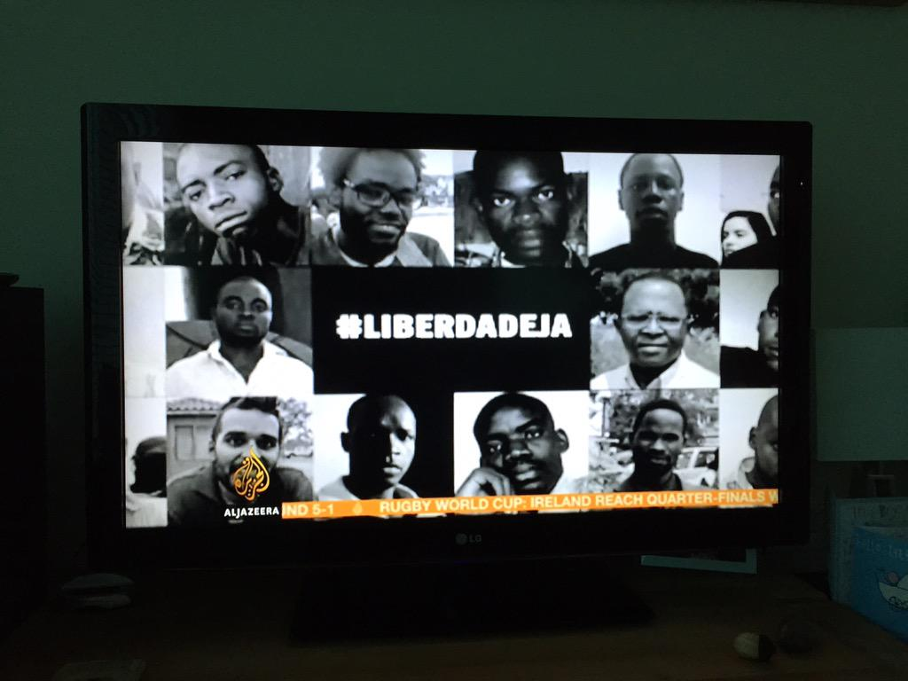 Good to see #Angola on @AJEnglish Thanks for keeping this on the radar @BarnabyPhillips #LiberdadeJa http://t.co/wNs2HOavZS