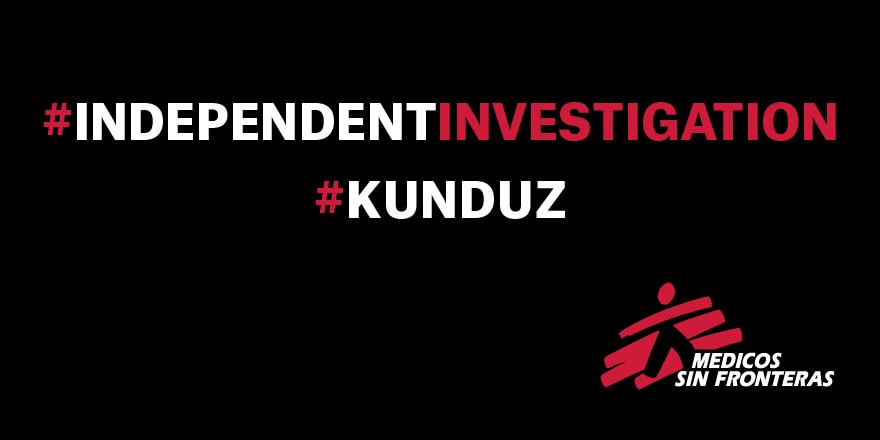 #MSF exige una investigación independiente sobre los brutales bombardeos en #Kunduz. RT #IndependentInvestigation http://t.co/ozIMaah0IL