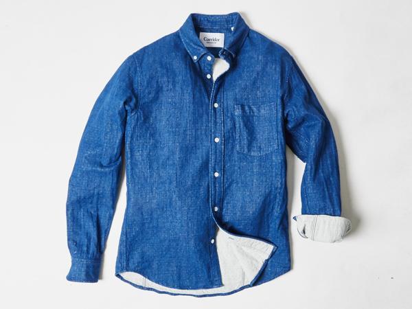Corridor NYC Lined Indigo Shirt (@CorridorNYC). http://t.co/fV0V6EQgkz http://t.co/brHrUrQdlt