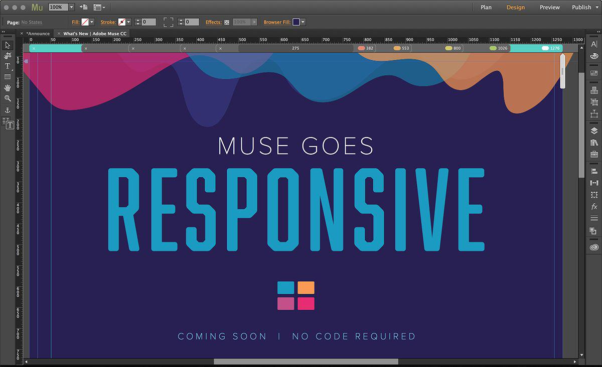 You asked. Now responsive design is coming to #AdobeMuse. Get the details: http://t.co/nxQ8n4enMS #AdobeMAX http://t.co/J7QRlVwDNQ