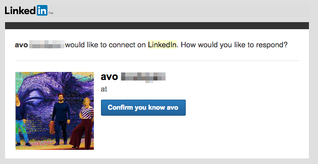 Another LinkedIn request from someone who wanted to beat me up (?) about System of a Down ten years ago http://t.co/kvoKD3cLwR