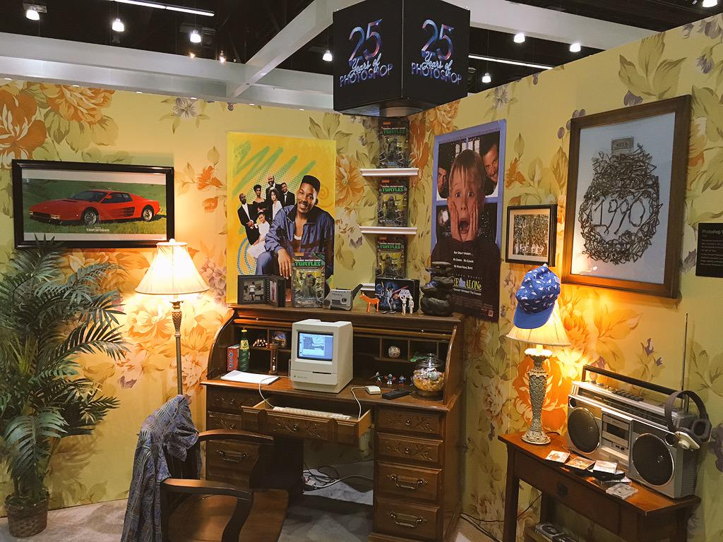 The 25 Years of Photoshop demo was really nostalgic and cool. (1995-2015) #AdobeMAX http://t.co/4fJD7b2Bfo
