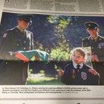 Beautiful pic of @defenceforces delivering Irish flag to St Raphael's Special School,Celbridge in todays @IrishTimes http://t.co/OJ5Uw9d3Rt