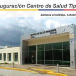 .@MashiRafael Inauguración del Centro de Salud Tipo B Paquisha #SaludParaZamora. @Salud_Ec http://t.co/GWpDhQiU8l