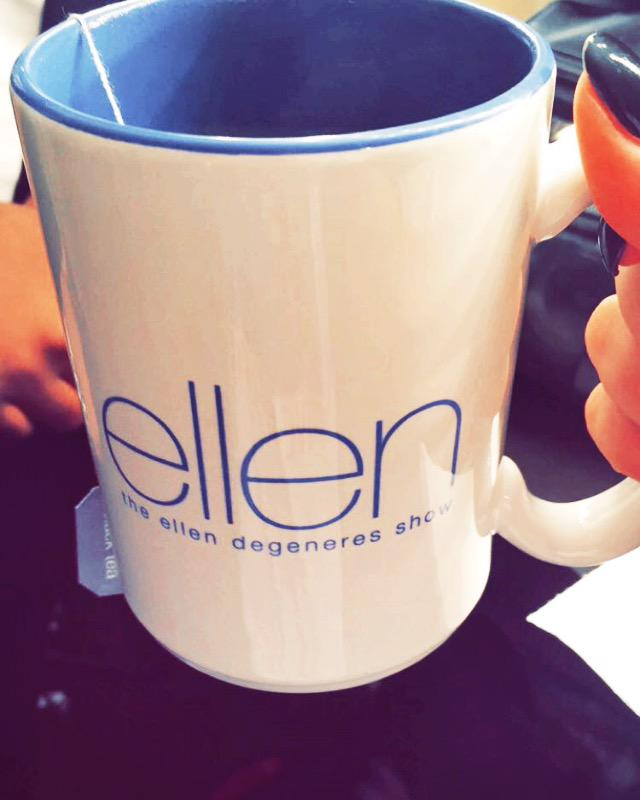 Ready for you guys!! ????❤ @TheEllenShow http://t.co/91cc6zT1Al