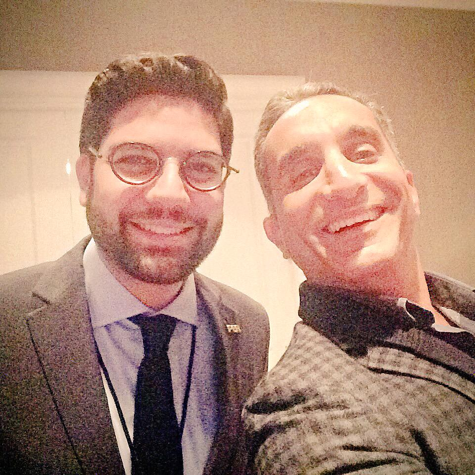 He is most famous than a pharaoh...@DrBassemYoussef took my phone and made a selfie. Great meeting you! #Concordia15 http://t.co/oT7hdm7Kn4