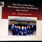 Mayor Tara Veer about to commence 2015 State of the City Address to Red Deer Kiwanis International: http://t.co/fEI1fzjBS1