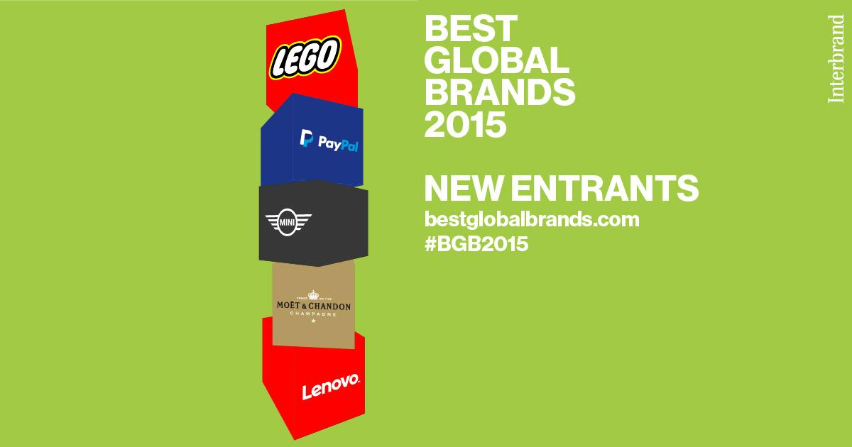 #BestGlobalBrands - NEW Entrants @LEGO_Group @PayPal @MINI @MoetUSA @lenovo http://t.co/zDraUdFHyF #BGB2015 http://t.co/OJNJL9hXOW