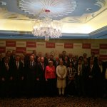 A power pic for posterity. PM @narendramodi and Chancellor Merkel with the men and women who @makeinindia. http://t.co/rFPU5lSfej