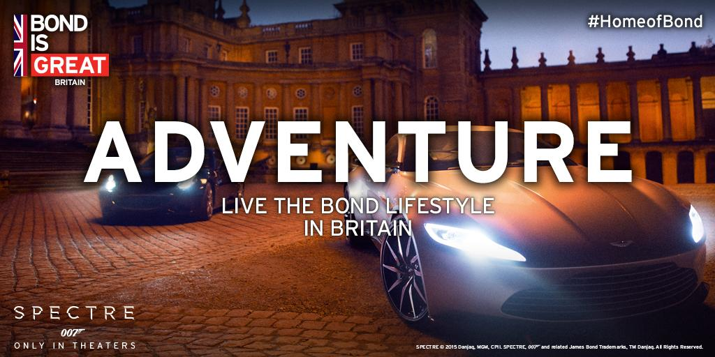 We've just launched a new #HomeofBond campaign around new Bond film #SPECTRE http://t.co/JRKGgF08ln http://t.co/jQbq9sXKZQ