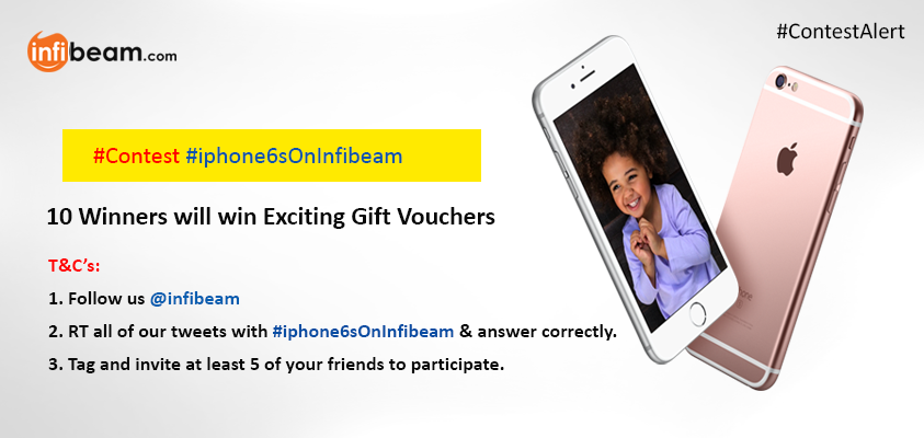 #ContestAlert : We're giving away 10 gift vouchers today. RT & show us your excitement. #iPhone6SOnInfibeam #contest http://t.co/gIo7dQC338