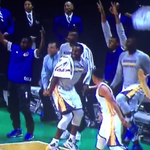 VIDEO: Stephen Curry daps up teammate before 3-point shot goes in during preseason game http://t.co/RBlhxKbKLe http://t.co/jccaoZCQrd