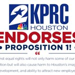 . @KPRC2 joins @HoustonChron in endorsing a Yes vote on Prop 1 to protect #HERO! http://t.co/3sBPm5x94z #YesOn1HOU http://t.co/MFfWWiJjql