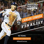 Congrats to #Astros SS @TeamCJCorrea, finalist for the #HankAaronAward! #VoteCorrea now: http://t.co/mdPWEIYDdk http://t.co/mqXgi1jLhb