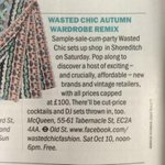 @wastedchic in @TimeOutLondon for their Popup Autumn wardrobe remix this Saturday! http://t.co/sznofnfGLM