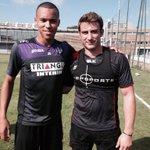 Super Matinée avec les joueurs du @StadeToulousain @MaxMedard @VincentClerc @McalisterLuke 🏉⚽️👍🏽 http://t.co/2N1GkuQk4c