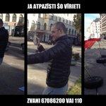 """FOTO: Par instalācijas """"Maidana cilvēki"""" izpostīšanu meklējam šo vīrieti. Ja atpazīsti, zvani 67086200 vai 110. http://t.co/Y55iD8BwaK"""