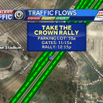 Going to the Royals Pep Rally today? Heres some info for ya! Remember the Stadium Dr. lane reductions :) @KMBC http://t.co/KebjxhAtCw