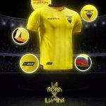 """Anoche fue presentada la nueva """"Piel del País"""". Estas son las camisetas que usará Ecuador, rumbo a Rusia 2018. http://t.co/9rO4VE7N2y"""