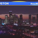 Gorgeous sunrise watch, #Houston! These clouds are going to look like theyre lit on fire within the next 30 minutes! http://t.co/dKwBVk41Go