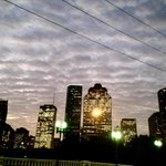 Lookin good this morning, #Houston, from the Sabine St. Bridge. @abc13houston http://t.co/o2Yjhibz0Y