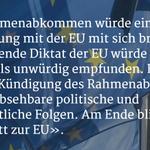 Ein Rahmenabkommen würde d. Schweiz direkt in die EU führen. Gastkommentar v. Carlo Jagmetti http://t.co/fyEH1rhndj http://t.co/Qoo3xZeLb7