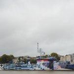 #Nantes: le Maillé-Brézé, navire-musée depuis 1988, est comment dire ? Coloré... cc @StephanePajot44 @ChDefense http://t.co/ILH9M8RFH1