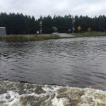 This is Highway 52 near Coward. Were driving 15 mph b/c water so high on road. Feels like Im in a boat. http://t.co/VkoqyI018n