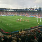 Decent crowd at the Way for Canada vs Romania today. Quite the comeback by Romania too! #RWC2015 http://t.co/kkoG6OSKQU