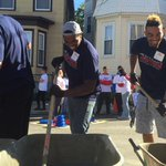Community Tuesday. Mixing cement at the @myUHC/@kaboom playground build. http://t.co/xZrf5pgaf6
