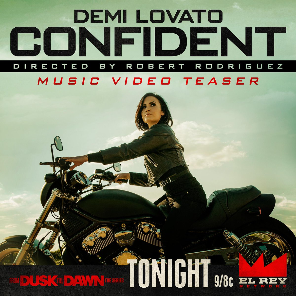Watch a teaser of my video for @ddlovato's #CONFIDENT tonight during a new EP of @DuskElRey at 9/8c on @ElReyNetwork! http://t.co/FaktADKbJ9