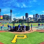 Meanwhile in Pittsburgh, the #Cubs gear up for tomorrows big game. #LetsGo #FlyTheW http://t.co/3C0IzrOIYB