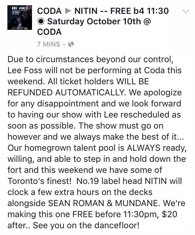** IMPORTANT UPDATE FOR SAT OCT 10**  ✔️ Now FREE B4 11:30 ~ $20 after http://t.co/eQ4a219L7h