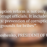 President of #Ukraine @poroshenko: We must remove the soil in which corruption sprouts. http://t.co/uNKLHIqGzp http://t.co/uF2UVy608d