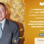 [EN VIVO] Pronunciamiento por declaraciones alcalde del DMQ sobre procesos #VolcánCotopaxi http://t.co/A74b2PYMvZ http://t.co/VitzYy6eSt