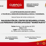 TRABAJAMOS PARA TODOS El @MunicipioCuenca con una invitación especial que hace nuestro Alcalde @CholaCabrera #Cuenca http://t.co/Z5YT6RLeh1