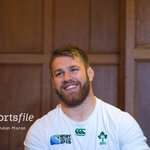 Sean OBrien was looking very relaxed at Irelands press conference today ahead of Sundays game against France! #IRFU http://t.co/bTvY3Ynozm