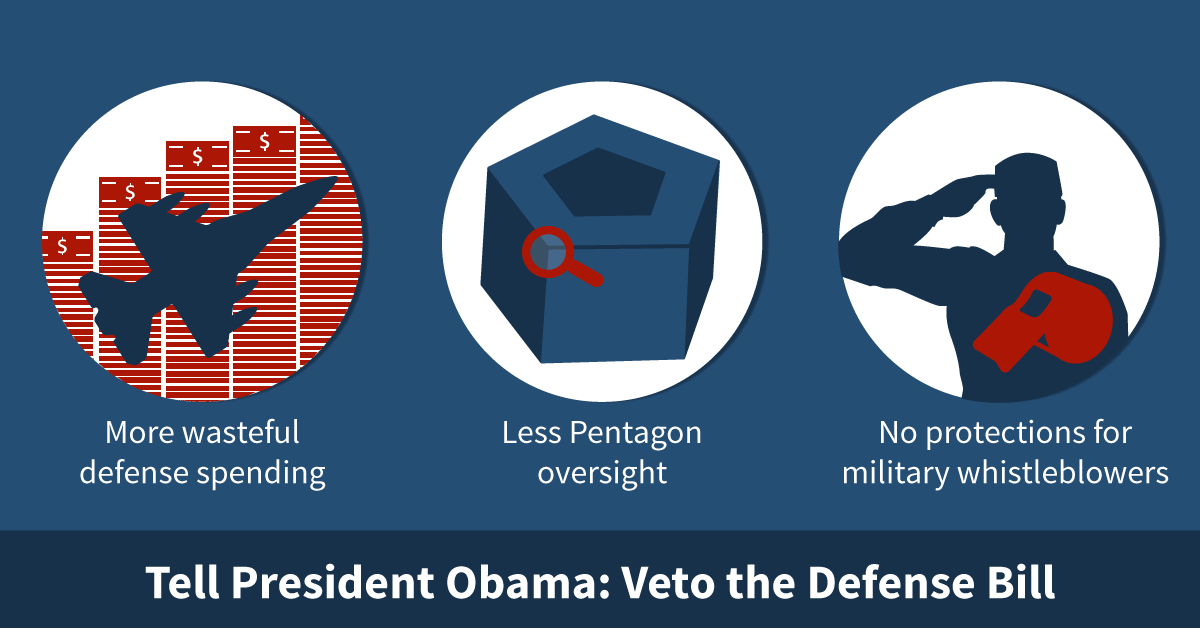Stop #Pentagon budget gimmicks. Tell @POTUS to veto the Nat'l Defense Authorization Act. https://t.co/h7hK9KrmS0 http://t.co/UelmTwEz3M